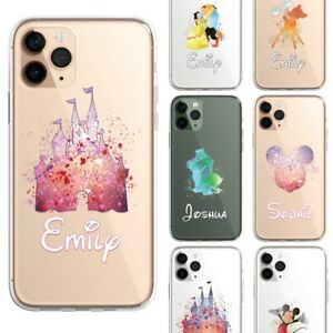 PERSONALISED Cartoon Disney Movie CLEAR TPU Phone Cover Case for iPhone Samsung