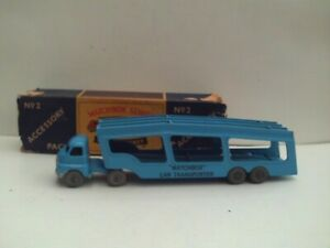 MATCHBOX MOKO LESNEY No. 2 ACCESSORY PACK CAR TRANSPORTER VGC.PART-BOXED