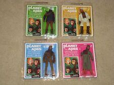 4 Mego Planet Of The Apes Diamond Select Figures Cornelius Dr Zaius Zira Soldier