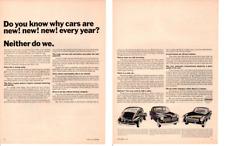 1965 VOLVO 544, 122 S, 1800 S ~ ORIGINAL 2-PAGE PRINT AD