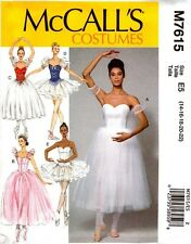 McCalls Sewing Pattern 7615 M7615 Misses Ballet Costumes 6-14 NEW