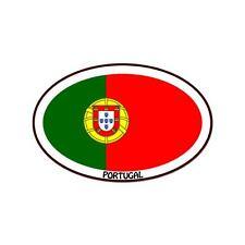 "Portugal Euro oval car window bumper sticker decal 5"" x 3"""