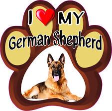 I LOVE MY GERMAN SHEPHERD CUTE DOG Bumper Sticker PAW #179