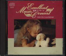 EXCELLENT MUSIC CONCERT 1995 CD CALENDER 10tracks Not for sale Japan  CD