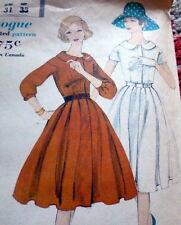 LOVELY VTG 1950s DRESS VOGUE Sewing Pattern 10/31 FF