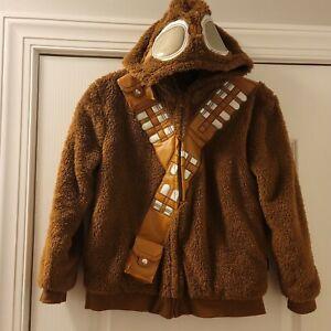 Disney Store Exclusive Star Wars Chewbacca Wookie Fur Jacket Size 9/10 Hooded