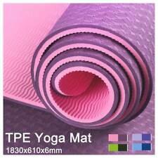 TPE Yoga Mat Dual Layer Exercise Training Fitness Gym Pilates Mat - 4 Colors