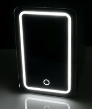 🔥SUPER Cute Personal Chiller LED Lighted Mini Fridge with Mirror Door, Black🥰