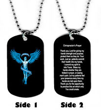 DOG TAG NECKLACE - Chiropractor's Prayer Chiropractic Medical Doctor Jesus God