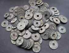Mixture 200pc Chinese Bronze Coin Old Dynasty Antique Currency Cash 35-44mm