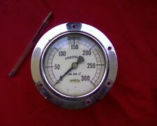 Large steampunk era brass pressure gauge Steam Engine vintage art industrial
