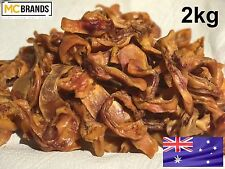 2kg 100% Australian Pig Ear Strips Dehydrated Natural Dog Treat All Natural