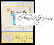 Congratulations Rubber Stamp C15014 Impression Obsession Cling Stamps Words