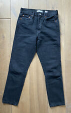 RE/DONE High Rise jeans double needle crop colour used black (dark grey) size 27