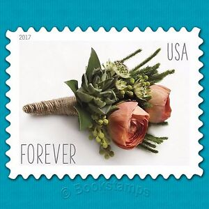 20 Forever Stamps Rose Flower Bouque US Wedding Celebrate Floral Boutoniere RSVP