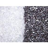 Ladesteine und Entladesteine Bergkristall Hämatit Mini Chips 300 gr (je 150 gr)