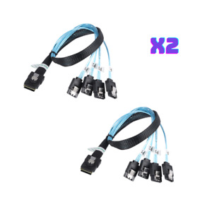 Mini-SAS SFF-8087 to 4x SATA Adapter Cable 2 pack