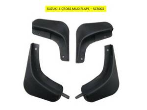 SUZUKI S-CROSS 2015+  FRONT and REAR MUD FLAP SET AFTERMARKET PARTS SCR002