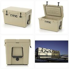 New listing Rtic Hard Cooler, Ice Chest with Heavy Duty Rubber Latches, 3 Inch Insulated