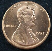 1997 P Lincoln Memorial Cent Penny (BU) Brilliant Uncirculated US Coin