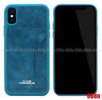 Head Porter Card Holder Leather Cover Case For iPhone XS Max XR X 8 7 Plus 6S 6