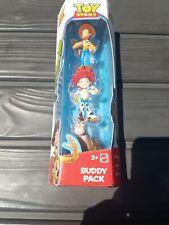 Toy Story Buddy Pack-3pc Figure Set Hero Woody, Jessie, Bullseye Mattel V4941