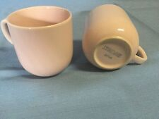 2 Pink Stoneware Coffee Cups