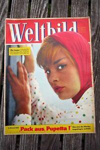 alte Weltbild Zeitschrift Nummer 13 Illustrierte 2. Juniheft 1959 heft Vintage