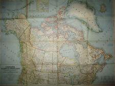 Large Original  Map June 1947 North America,Canada,Alaska,Greenland 34x26