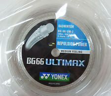 YONEX BG66 UM, BG-66UM, BG 66 Ultimax, 200 m Coil Badminton String, Many Colours