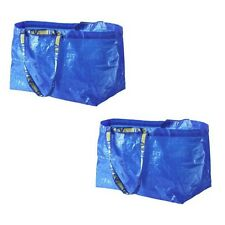 2 IKEA SHOPPING BAG NEW LARGE REUSABLE - LAUNDRY TOTE GROCERY STORAGE - FRAKTA