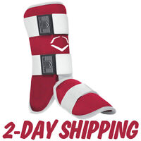 EvoShield EVOCHARGE MLB Baseball Batter's Leg Guard Adult Red >2-DAY SHIPPING