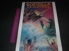 GODZILLA VS MOTHRA CLASSIC MONSTER MOVIE POSTER PIN UP