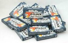 100 X Gillette 7 O' Clock Super Platinum Double Edge Razor Blades