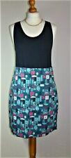 MISTRAL - BNWoT - Lovely Cotton Skirt - Teal/Multi - 12UK - Thames Hospice
