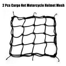 2 Pcs Cargo Net Motorcycle Helmet Mesh Storage for 40X40cm 6 Hook Cargo Net