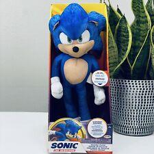 New Sonic The Hedgehog Movie 13 Inch Talking Sonic Plush NEW 2020