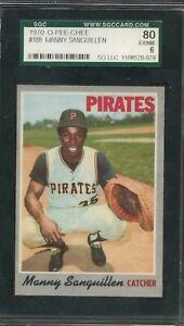 1970 O-Pee-Chee #188  - Manny Sanguillen - SGC 80 EX/NM - Pirates OPC