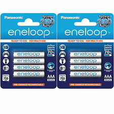 LOT 2 x 4 PILES ACCU ENELOOP RECHARGEABLE AAA LR03 1.2V 750mAh Ni-Mh BATTERIE