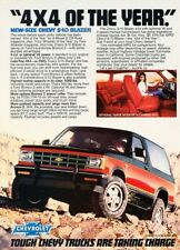 1983 1984 Chevrolet S-10 Blazer Original Advertisement Print Art Car Ad J214