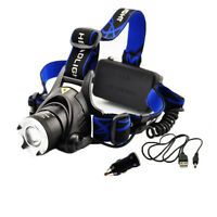 Ultra Bright 1000LM CREE XML-T6 LED 18650 Rechargeable Headlamp Charge Headlight