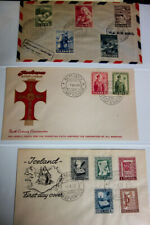 Iceland Stamps First Day Covers Cachet Early Collection Lot of 90 Scarce