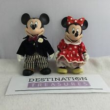 Possibly Vintage Disney Porcelain Mickey & Minnie Figurine Dolls