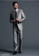Studio Coletti Anzug 5-teilig Silbergrau / Grau NEU  Weste Krawatte Tuch gr. 58