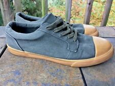 ASOS Army Green Canvas Sneakers Fashion Skateboard Athletic Mens Shoes Sz 9.5