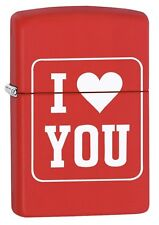Zippo Briquet I love you red tapis coeur amour neuf emballage d'origine pièce de collection!!!