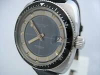 NOS NEW SWISS MADE AUTOMATIC MEN'S JULES JURGENSEN DIVERS WATCH 1960'S WITH DATE