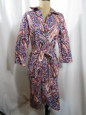 TALBOTS Belted Shirt Dress Size 6