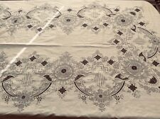 Vintage EMBROIDERY AND NEEDLE LACE Tablecloth And 12 NAPKINS Gorgeous