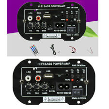 Coche 220V 50W Potencia Amplificador Altavoz Bajo Audio Radio Subwoofer Set